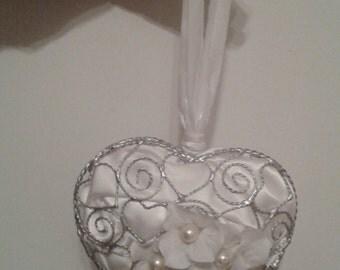 Heart shaped Wedding ornament
