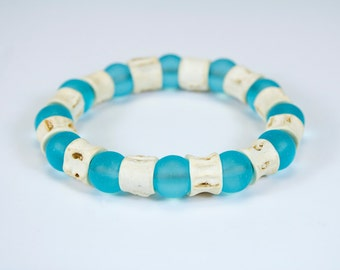 Bracelet ethnic vertebrates, turquoise