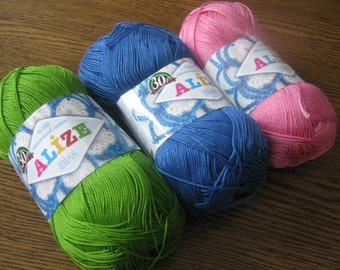 Crochet cotton yarn, yarn for knitting, lace yarn, yarn for crochet, mercerized cotton, MISS yarn, yarn for sale, cotton yarn online