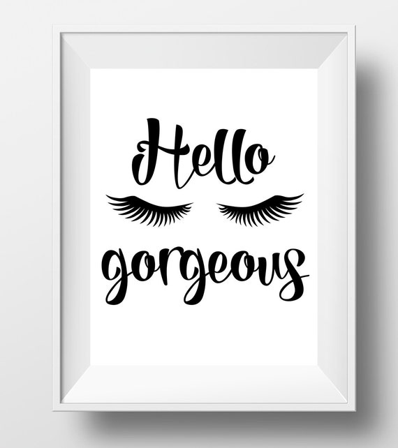 Hello Gorgeous Room: Hello Gorgeous Gift For Her Hello Gorgeous By