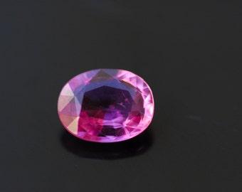 Natural Sapphire, Loose Gemstone, Fancy Pink Natural Loose Gemstone, Oval Cut, 1.51 ct Loose Sapphire Gemstone