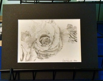 Heart Rose print 5x7 matted to 8x10