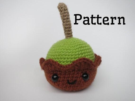 Crochet caramel apple