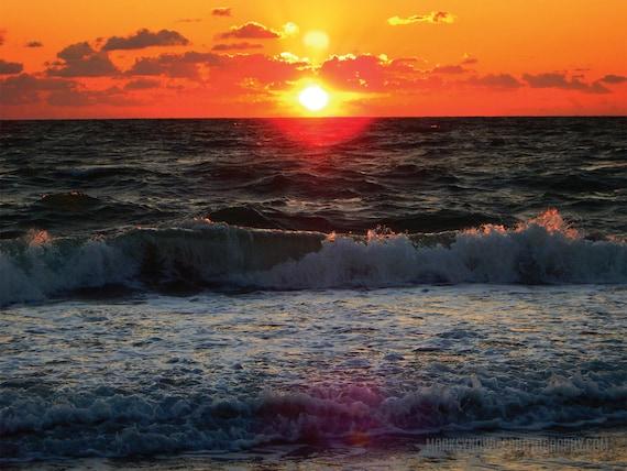 Ocean Sunset Canvas Wrap Print
