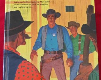 Vintage Gunsmoke 1958 Book Immaculate Condition featuring Matt Dillion