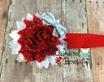 Red and white sweetheart headband