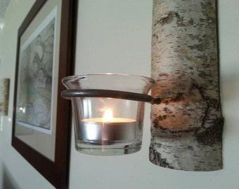 Birch Log Sconces
