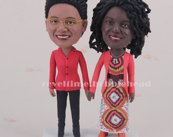 Unique valentines gift Personalized Bobbleheads women figure custom valentines gifts custom gifts unusual gifts for women clay figurine