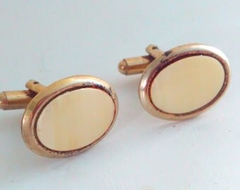 Vintage cufflinks, vintage, cufflinks, vintage cuff links, wedding cufflinks, bridegroom, wedding, oval cuff links, gold plated cuff links