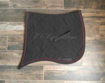 Swallow Tail Dressage Saddle Pad w/Piping