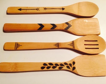 Wooden Spoons, Set of 4