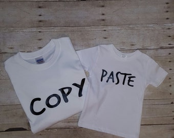 Copy and paste shirts, SALE, Father's day shirts, Father and son shirts, father and daughter shirts, fathers day gift, baby shower gift,