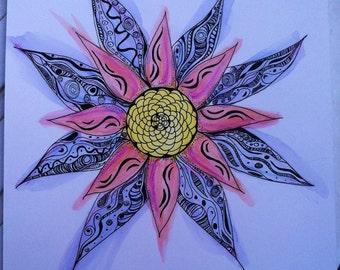 Star flower watercolor