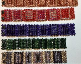 Metal bead and Swarovski crystal bracelets