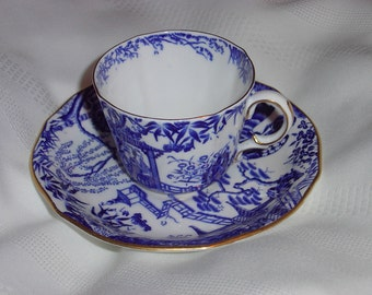 Royal Crown Derby MIKADO Tea Cup and Saucer - 1930's