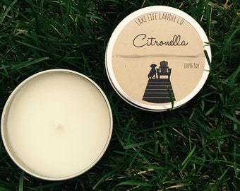 Citronella Travel Tin Candle