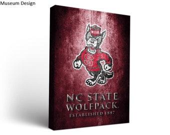 North Carolina State NC State Wolfpack Canvas Wall Art