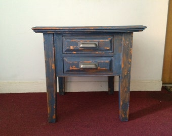 Blue Distressed table