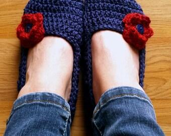 Crocheted Pride of America Slipper Socks