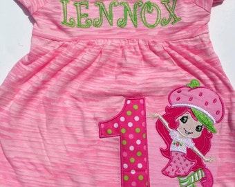 Strawberry Shortcake Birthday Dress Number can be changed