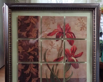 Vintage Framed painted Tiles