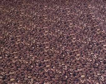 Timeless Treasure Coffee Bean Fabric! Sold by the half yard