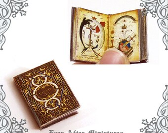 Alchemy Dollhouse Miniature Book – 12th Scale OPENABLE Alchemy Magic Antique Science Dollhouse Miniature Book - Dollhouse Printable DOWNLOAD