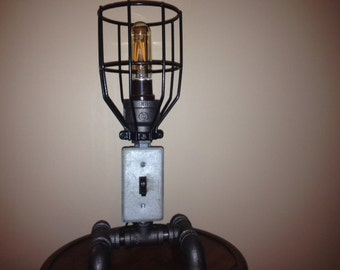 Industrial Cage Table Light