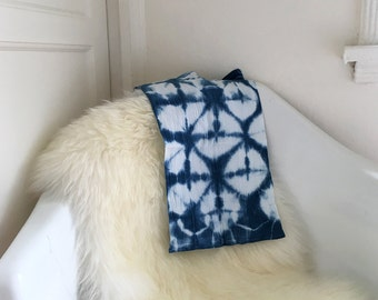 Shibori Diamonds Indigo Cotton Baby Burp Cloth