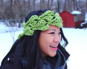 crochet headband, crochet earmuff, crochet ear warmer, petal headband, winter, cold weather, gift for women