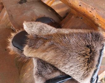 Sheared Beaver Mittens