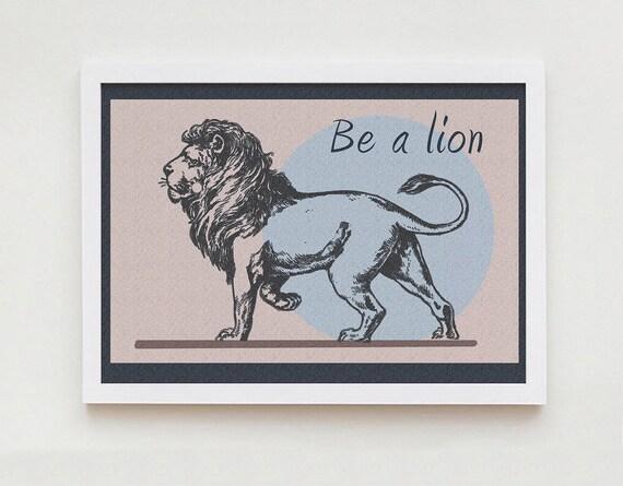lion print wall art home decor. Black Bedroom Furniture Sets. Home Design Ideas