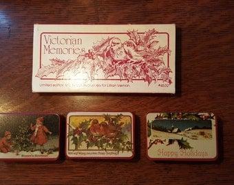 Christmas Victorian Memories set of 3 tins/1981/Lillian Vernon/Vintage collectibles