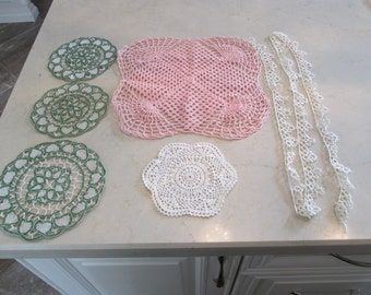 Crochet Doilies and Trim Assorted