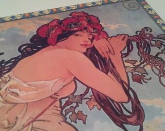 Art nouveau tile, Mucha