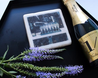 Champagne Marble Coaster
