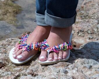 Handmade leather sandals