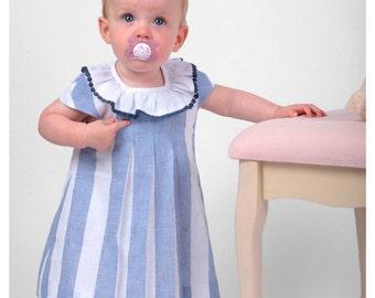 Baby striped linen dress