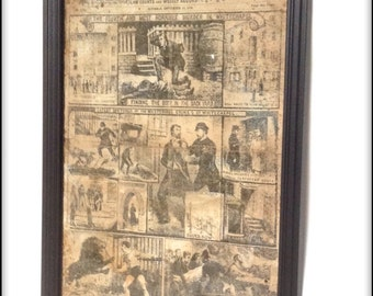Aged Reproduction Victorian Police News Jack the Ripper cover - Sept 15th 1888.