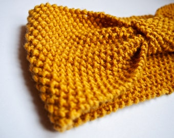 Headband Primavera yellow mustard