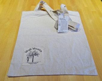 Wild Hemp Canvas Shopping Tote Bag. Market bag.Grocery bag. Reusable 100% Natural and Biodegradable.  *FREE UK SHIPPING*