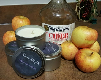 Homemade Apple Scented Soy Candle, 8 oz.