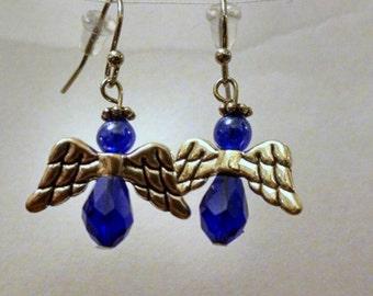 Angel Earrings - Strong Dark Blue