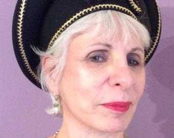 Vintage Black and Gold Hat