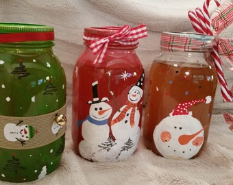 Decorative Christmas 32 oz Canning Jar