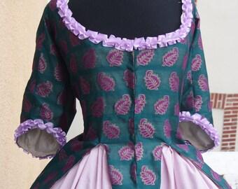 Caraco Jacket - 1775-1785 - 18th century