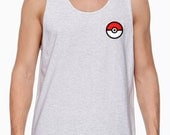 Pokemon Go Pokeball ASH color Tank Top  //Unisex Adults