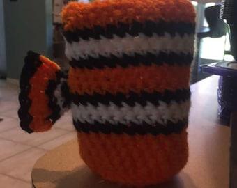 Nemo inspired cofee coozie