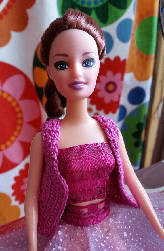 Gilet estivo per barbie colore rosa fuchsia in cotone fatto a - Barbie senza colore ...