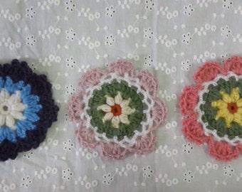 Knitting coasters set of 6